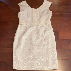 Tahari Off white dress size 12